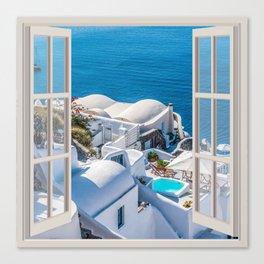 Santorini Greece | OPEN WINDOW ART Canvas Print