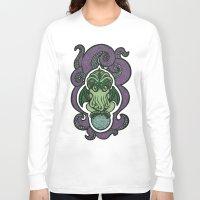 cthulu Long Sleeve T-shirts featuring Cthulhu by AvisNoctem