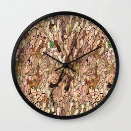 uncanny fuck-off Wall Clock