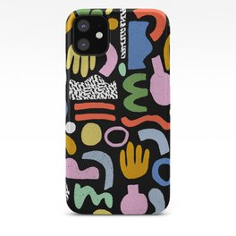 Helter Skelter - bright pattern, colorful, rainbow, abstract, shapes, pattern iPhone Case