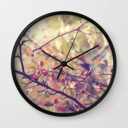 Berry Christmas Wall Clock