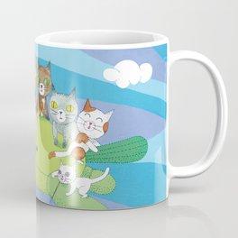 cat flying on a balloon Coffee Mug