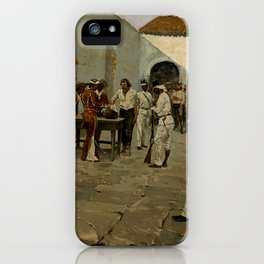 "Western Art ""Drawing of the Black Bean"" by Frederic Remington iPhone Case"
