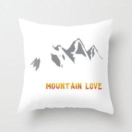 Mountain Dog Love Hiker Travel Adventurer Climber Throw Pillow