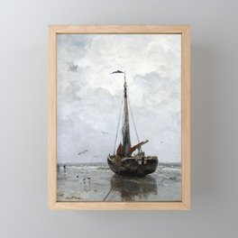 Jacob Maris Fishing boat Framed Mini Art Print
