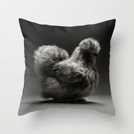 Chic!ken - Silkie Bantam Throw Pillow