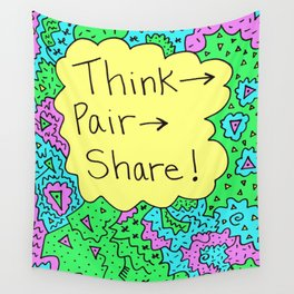 Think, Pair, Share! Wall Tapestry