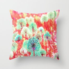 Flowers of Fantasy Throw Pillow