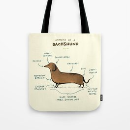 Anatomy of a Dachshund Tote Bag