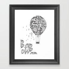 balloon trip Framed Art Print