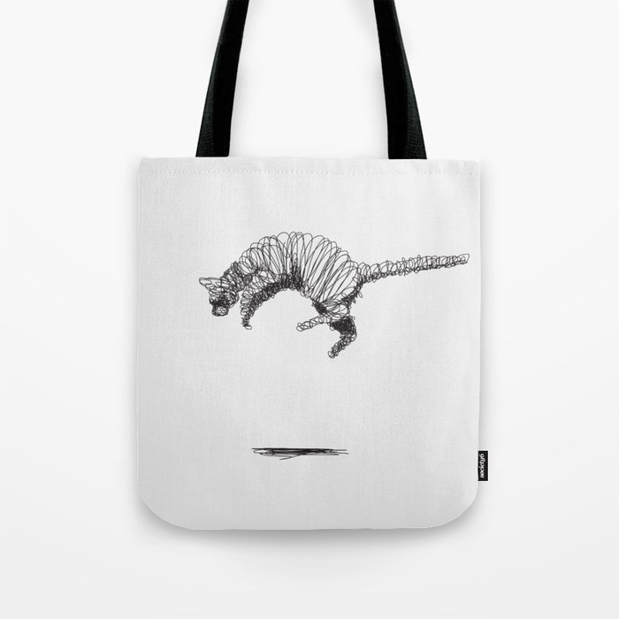 Cat Flying Tote Bag