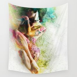 Self-Loving Embrace Wall Tapestry