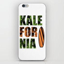 Kalefornia Diet Kale Art for Vegans in California Light iPhone Skin