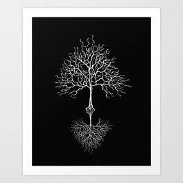 Tree of life meaning black Art Print