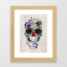 Ruzgars Skull Framed Art Print