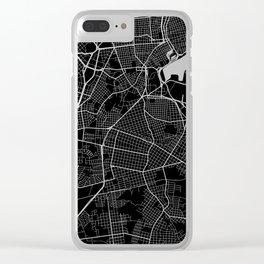 Street MAP Havana // Black&White Clear iPhone Case