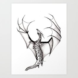 Dragons reach Art Print