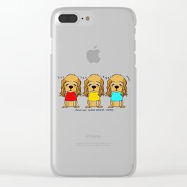 Sleepy American cocker spaniel Clear iPhone Case