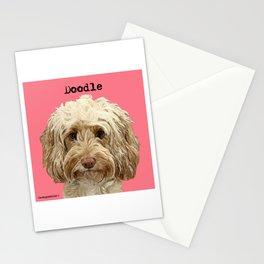 Apricot Blonde Doodle Dog  Stationery Cards