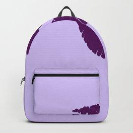 Violet Kiss on Light violet Background Backpack