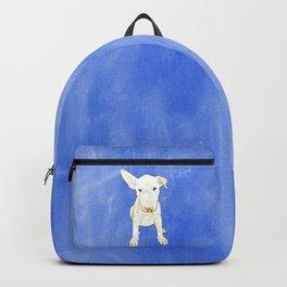 English bull terrier puppy pop art Backpack