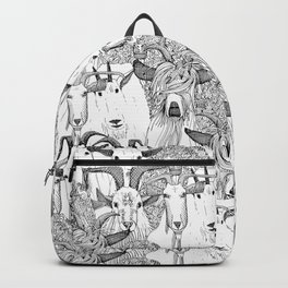 just goats black white Backpack