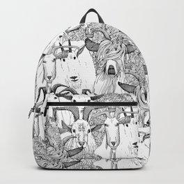 just goats black white Backpack