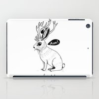 jackalope iPad Cases featuring Le Jackalope by Camille Roy