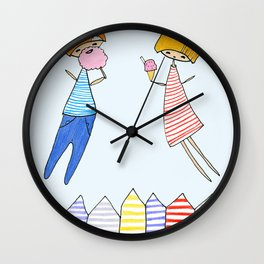 Let's go to the beach! Wall Clock