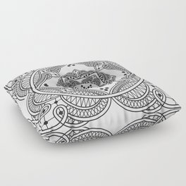 elegant meditation mandala Floor Pillow