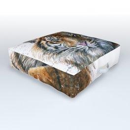 Tiger watercolor Outdoor Floor Cushion