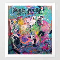 sonic youth Art Prints featuring Sonic Youth by Aim High Art
