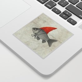 Goldfish with a Shark Fin Sticker