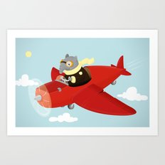 Flying Tapir Art Print