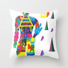 The Raver Throw Pillow