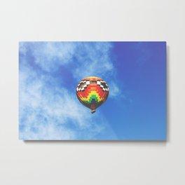 Rainbow air baloon Metal Print