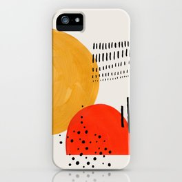 Rock & Hard Place Yellow & Orange Mid Century Modern Colorful Minimalist Shapes Patterns by Ejaaz Ha iPhone Case