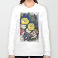 drum Long Sleeve T-shirts featuring Drum 1 by Ed Rucker