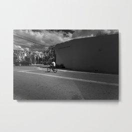 Boy on a bike Metal Print