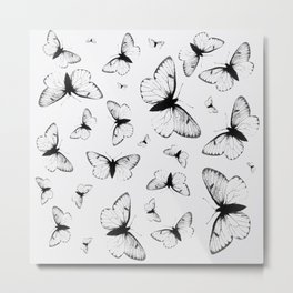 Flutterby Metal Print