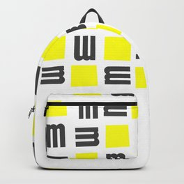 Typographical Abstract  Design Backpack