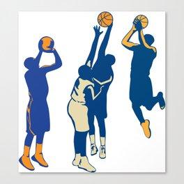Basketball Player Shoot Ball Retro Collection Canvas Print