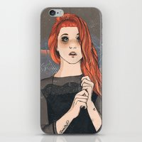 hayley williams iPhone & iPod Skins featuring Hayley by Clementine Petrova