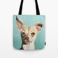 harley Tote Bags featuring harley by Nathan Rhoads