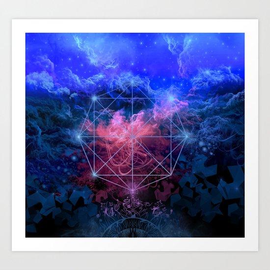 geometry space mandala Art Print