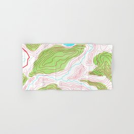 Let's go hiking - topographical map Hand & Bath Towel
