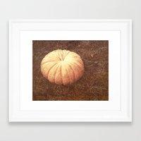 pumpkin Framed Art Prints featuring Pumpkin by Yellowstone Photo Studio