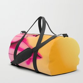 wood hanger with pink and orange background Duffle Bag