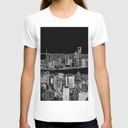 Shanghai in BW T-shirt