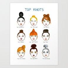 Top Knots Art Print